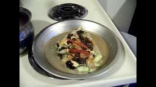Flounder Topped Dill Cucumber Vinaigrette Olive Rice 2/3 Chef John The Ghetto Gourmet Show