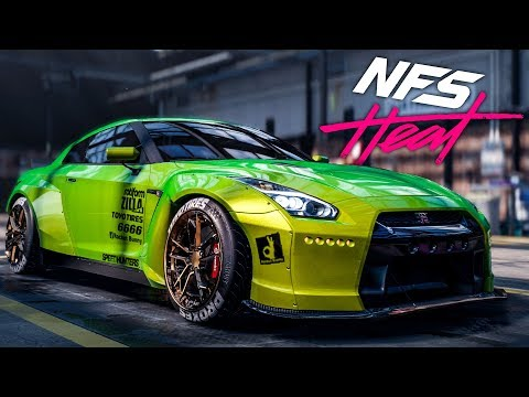 Need for Speed Heat 2019 - Nissan GTR Customization & Police Chase Gameplay