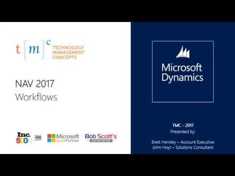 Microsoft Dynamics NAV 2017  - Workflows Part 1/2