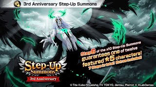 RAGE TURNS INTO HYPE?! NEW ULQUIORRA!!! 3rd Anniversary Step-Up Summons! Bleach Brave Souls