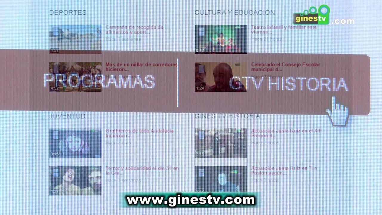 Gines Televisión estrena nueva página web más funcional y accesible