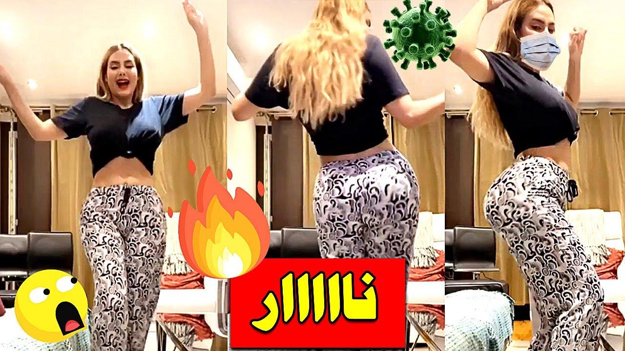 رقص نار نورهان التونسية من الحجر الصحي بسبب فيروس كورونا