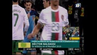 Héctor Baldassi en la previa de Rusia 2018