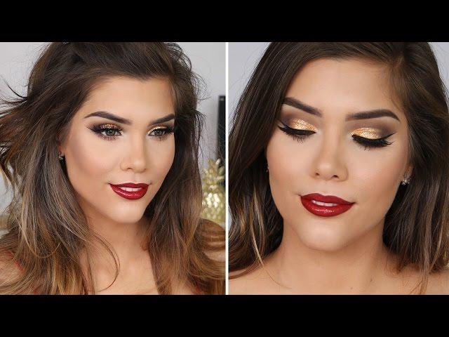 gold makeup tutorials for christmas popsugar beauty australia