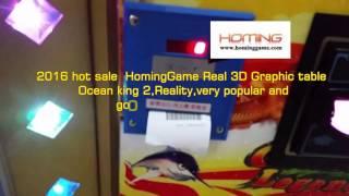 2016  No.1 Casino Machine Fish hunter Ocean king 2 fishing game (sales@hominggame.com)
