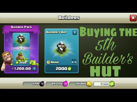 buying the 5th builder in clash of clans
