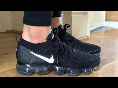 1ac588ced0ba Nike Air VaporMax Flyknit 2.0 (Black Dark Grey) - YouTube