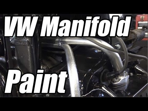 Classic VW BuGs Beetle Engine Intake Manifold Spray Paint Silver