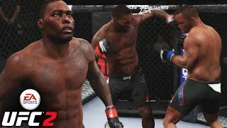 Anthony Rumble Johnson Heavy Hands! I'm Just Trash - EA UFC 2 Online Gameplay