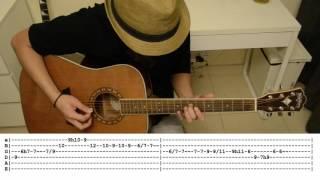 Late Autumn Cover (Sungha Jung) - Lead Guitar Tabs
