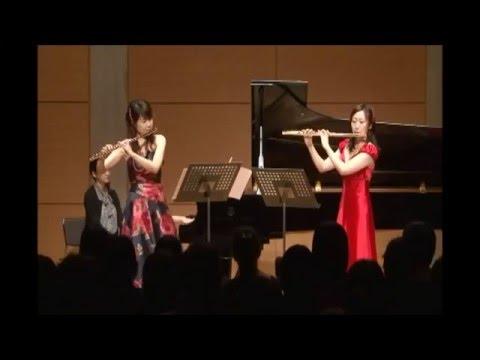 """K.J.Andersen:""""Allegro Militaire""""op.48 pour deux Flutes et Piano"""