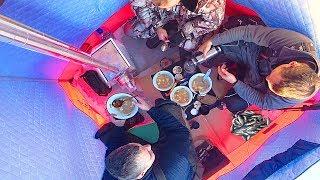 ЗИМНЯЯ РЫБАЛКА  30 С КОМФОРТОМ КАК В БАНЕ  Бешеный клёв по первому льду на озере   СИБИРИЯ