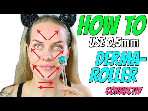 How TO USE 0.5mm DERMAROLLER with demonstration
