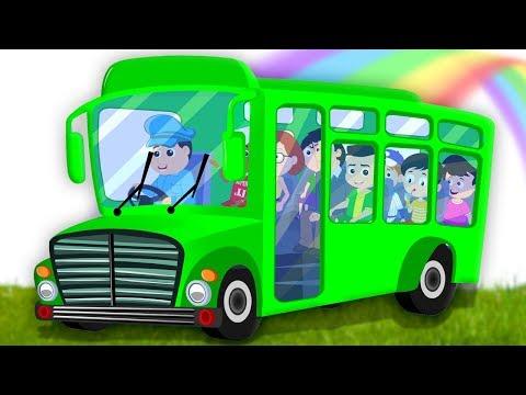 bánh xe trên xe buýt   xe buýt vần   trẻ em bài hát   Wheels On The Bus