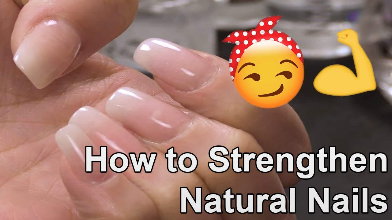 How to Strengthen Natural Nails with an Acrylic Overlay - YouTube