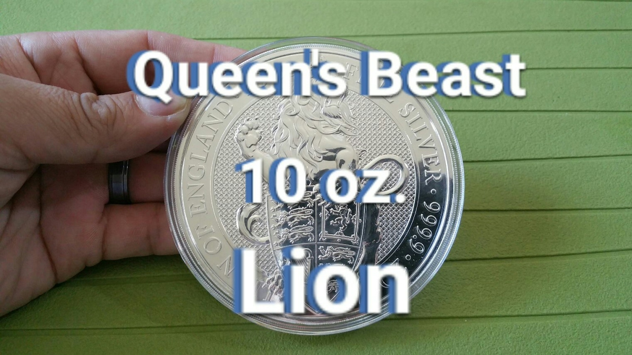 Behold The 10 Oz Queen S Beast Lion Apmex Unboxing