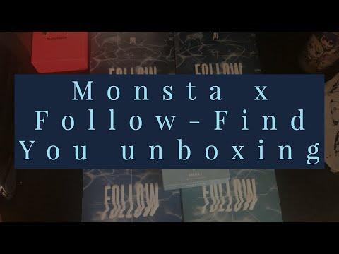 Download Monsta X Follow-Find You versions 1,2,3,4 & Kino album's Unboxing Mp4 baru