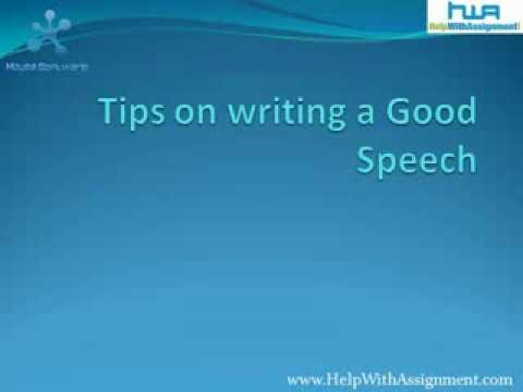 writing a good speech Four parts:sample speeches writing the speech practicing and delivering the speech what to do and what not to do community q&a a good speech in school will earn you the admiration of your teachers and peers alike you probably won't deliver the kind of speech you hear in the movies, but that's a.