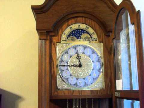Ridgeway Moon Phase Westminster Chime Grandfather Clock Youtube