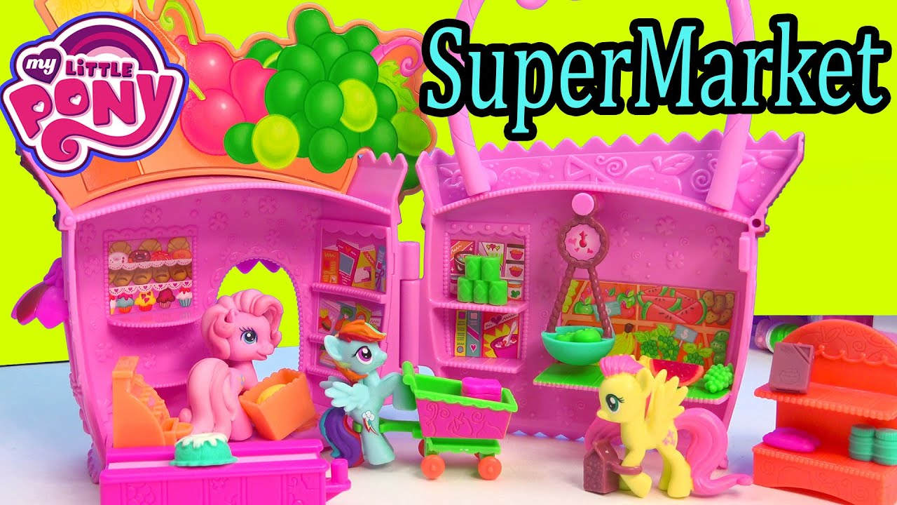 My Little Pony Toy Food : My little pony supermarket grocery food store pinkie pie