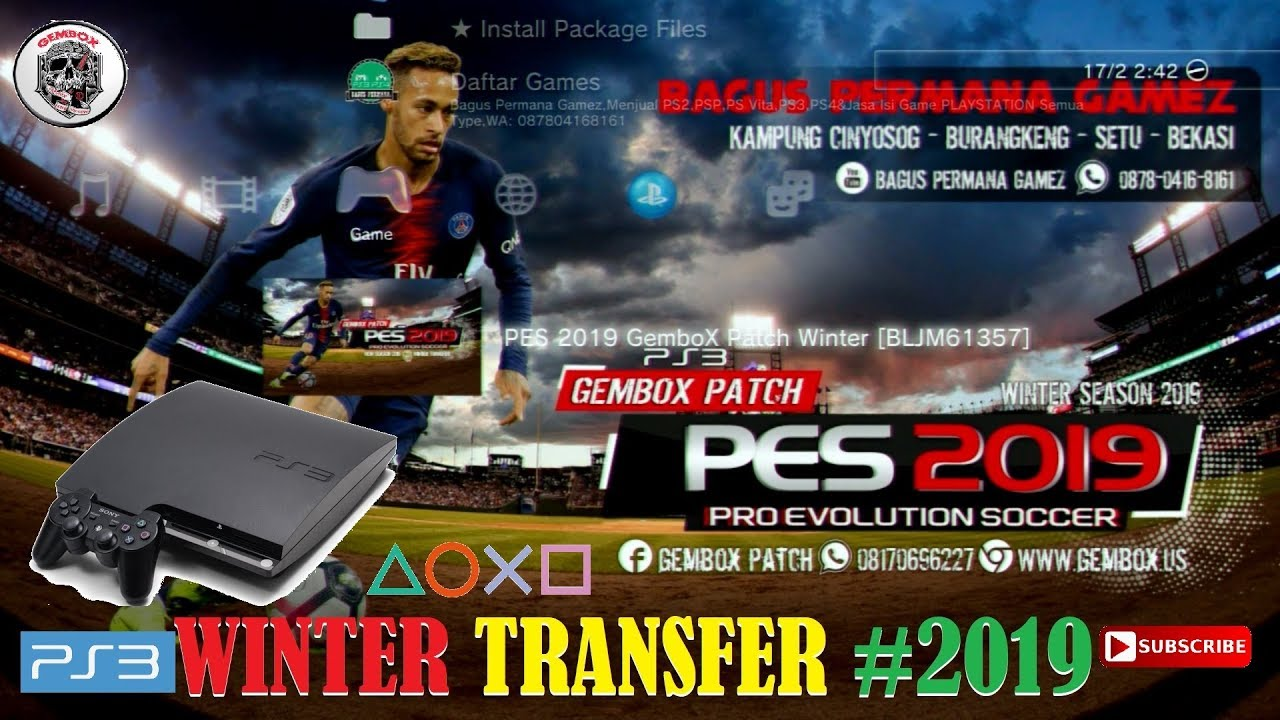 pes 2019 ps3 gembox patch winter transfer 18 19 youtube. Black Bedroom Furniture Sets. Home Design Ideas