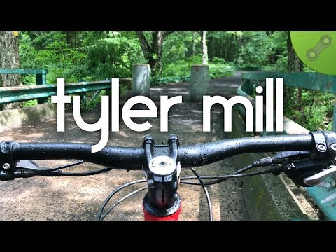 Riding the Purple Trail at Tyler Mill in Wallingford, CT