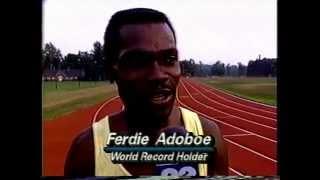 ferdie Adoboe,The fastest man backwards.