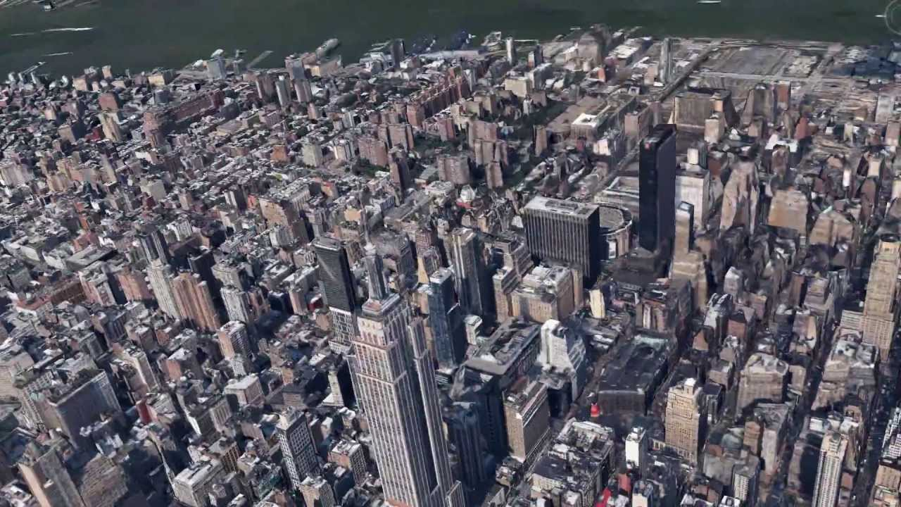 Google Maps Empire State Building NYC Fly Over YouTube - Nyc map google earth