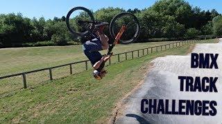 BMX TRACK CHALLENGES *FENCE JUMP*
