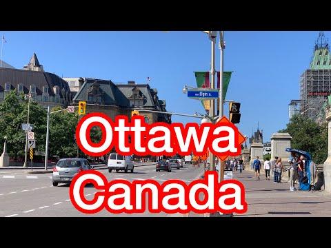 Driving Downtown Ottawa, Canada