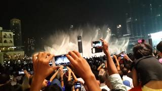 EID 2014 - DUBAI FOUNTAIN SHOW BY BURJ KHALIFA AND DUBAI MALL