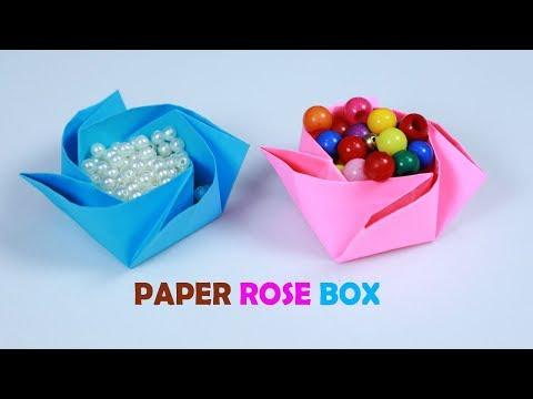 Origami Box Rose