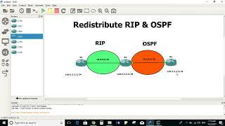 Redistribute RIP & OSPF