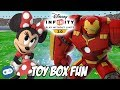 Minnie Mouse and Hulkbuster Disney Infinity 3.0 Toy Box Fun Gameplay