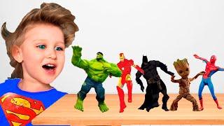 Супергерои оживают из раскраски | Танцы с супергероями