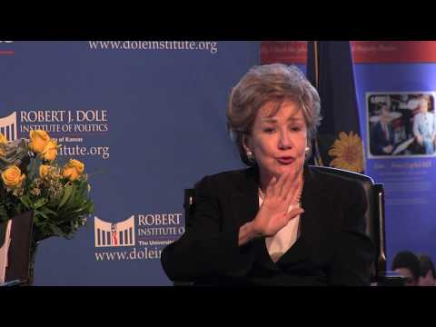Elizabeth Dole at the Dole Institute