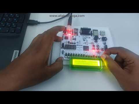 Learn FPGA 11: Displaying 4x4 Multiplier output on 16x2 LCD using EDGE Spartan 7 FPGA Board