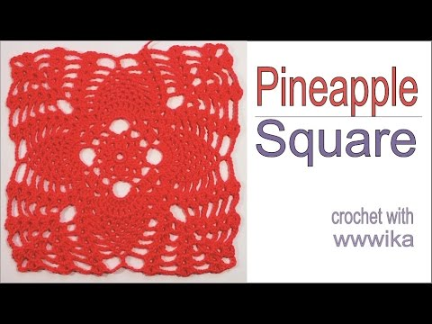 Pineapple Lace Crochet Square Part 1free Pattern Tutorial By Wwwika