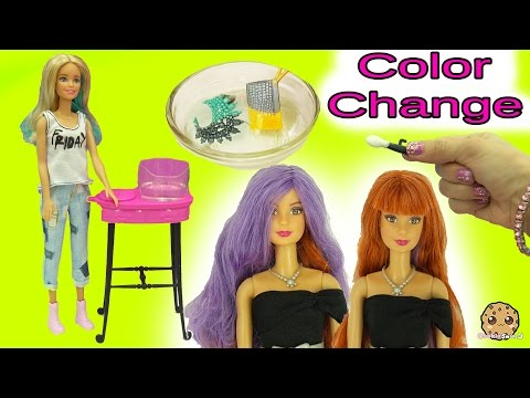 Barbie Twist Hair Color Change & Color Changer Makeup + Accessories in Water