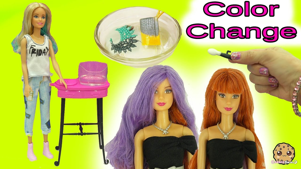 Barbie Twist Hair Color Change Amp Color Changer Makeup  Accessories In Wa