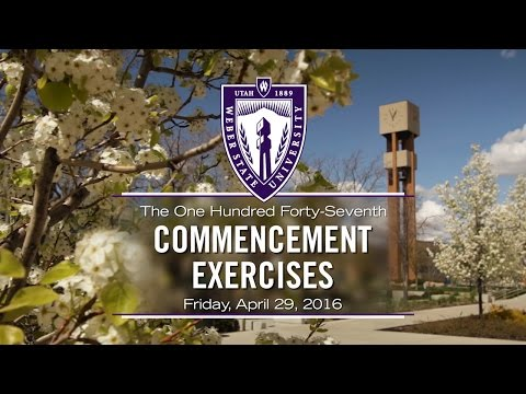 Weber State University Spring 2016 Commencement