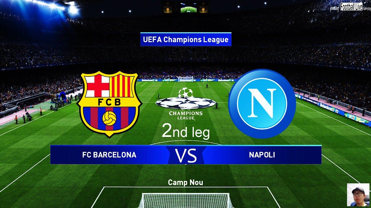 PES 2020 | Barcelona vs Napoli | 2nd leg UEFA Champions League ...