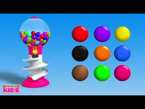 Colors for Children to Learn with Gumball Machine – Learning Colors Videos for Children