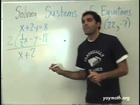 Algebra 2- Solving Systems of Equations