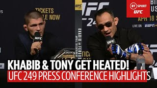 """I will eat you in street fight!"" Khabib and Tony Ferguson's heated #UFC249 press conference!"