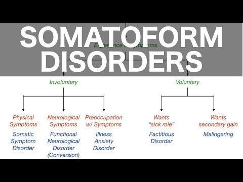 Somatoform Disorders (Somatic Symptom, Conversion, Illness Anxiety, Factitious, Malingering)