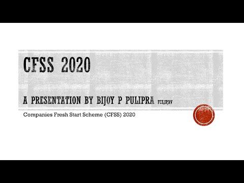 A talk on Companies Fresh Start Scheme, 2020