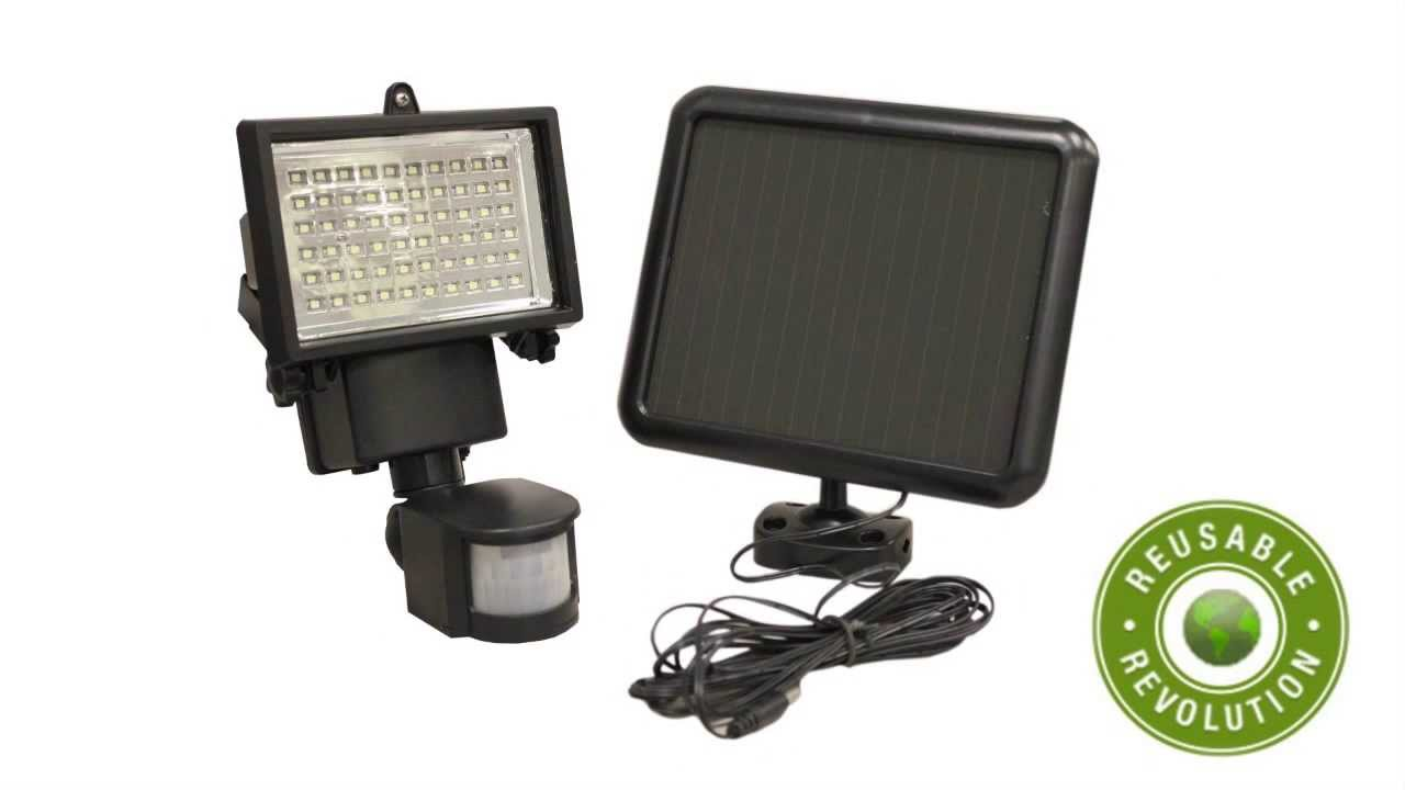 60 led solar powered security motion sensor flood light youtube aloadofball Image collections