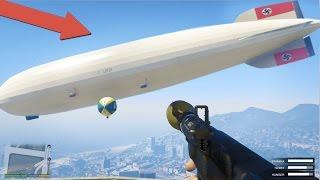 Blowing Up The Hindenburg Mega Blimp!!! Biggest Explosion In The Game! (GTA 5)
