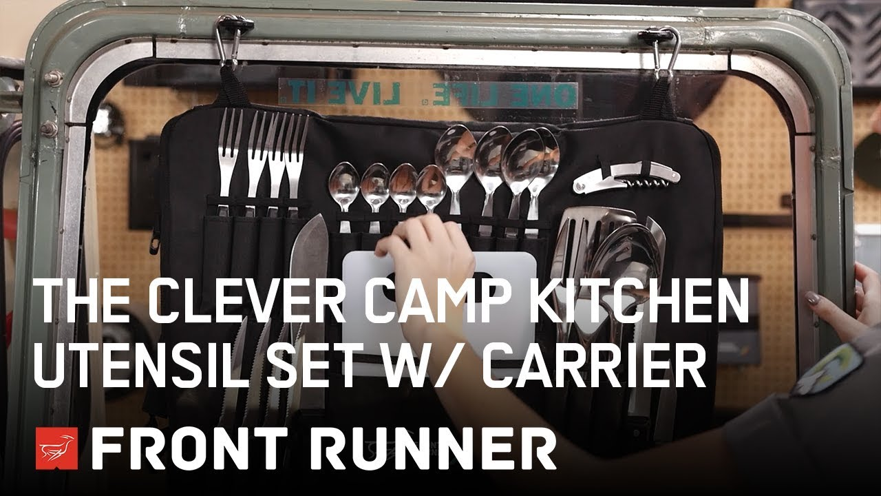 Kitchen Utensil Organizer Outdoor Doors The Clever Camp Set W/ Carrier - By Front ...